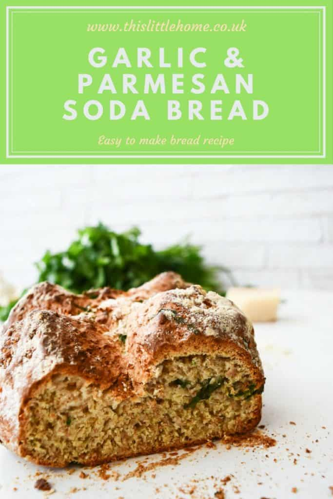 Garlic & Parmesan Soda Bread recipe