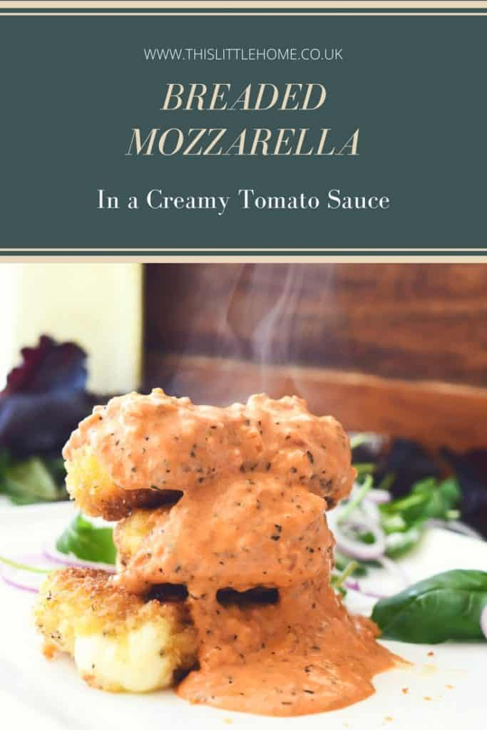 breaded mozzarella in a creamy tomato sauce recipe mozzarella in breadcrumbs