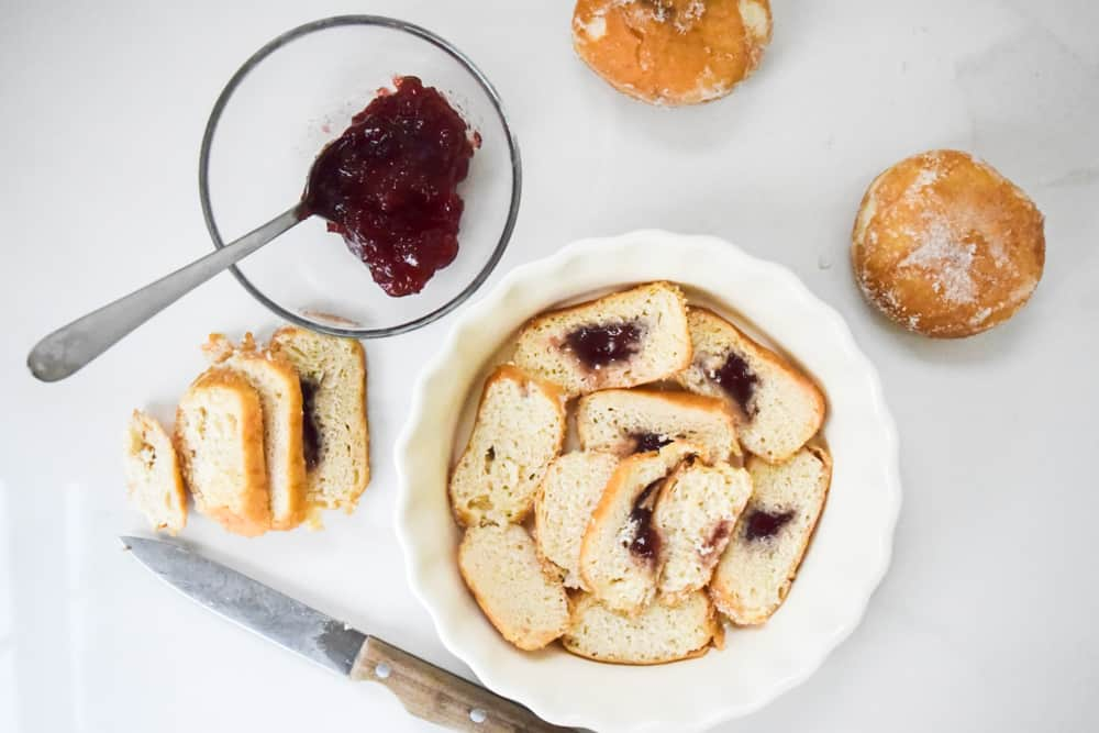 doughnut pudding recipe