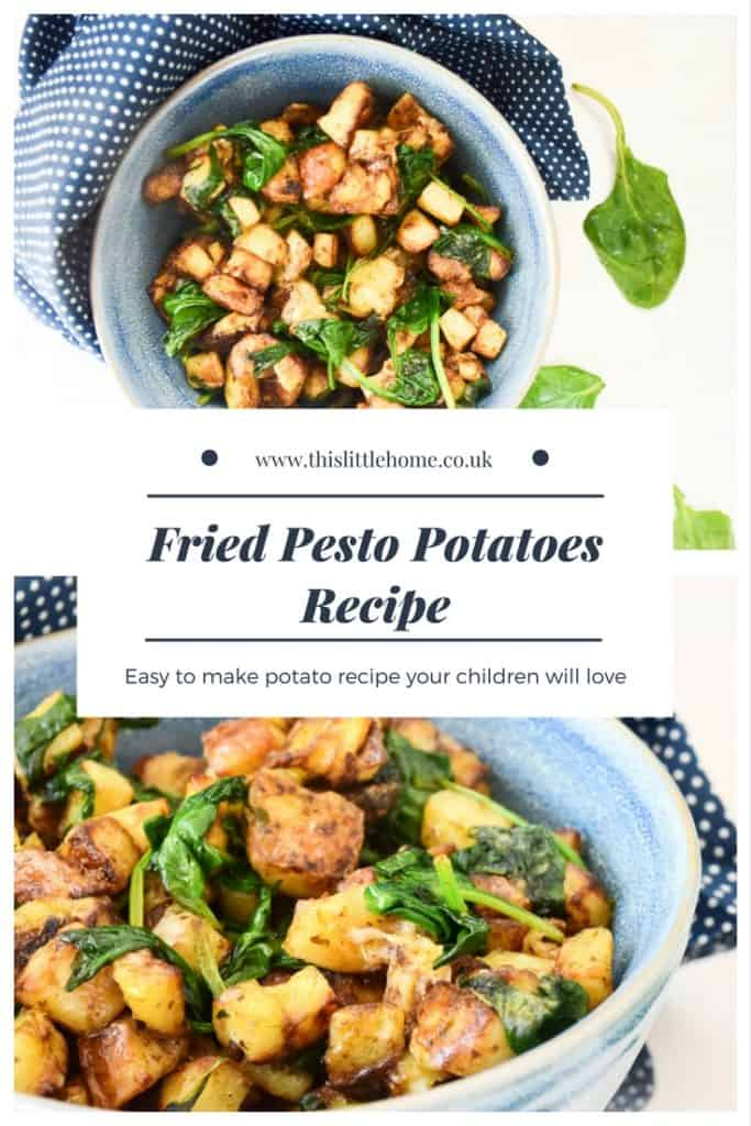 fried pesto potatoes recipe