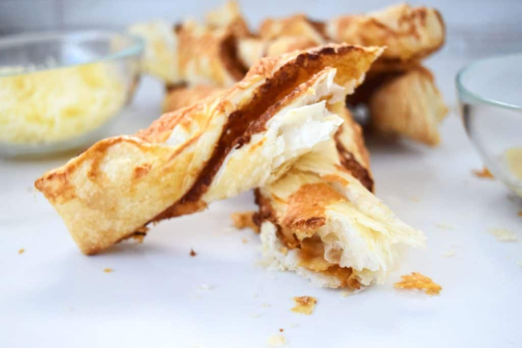 Puff Pastry Cheese Twists Recipe