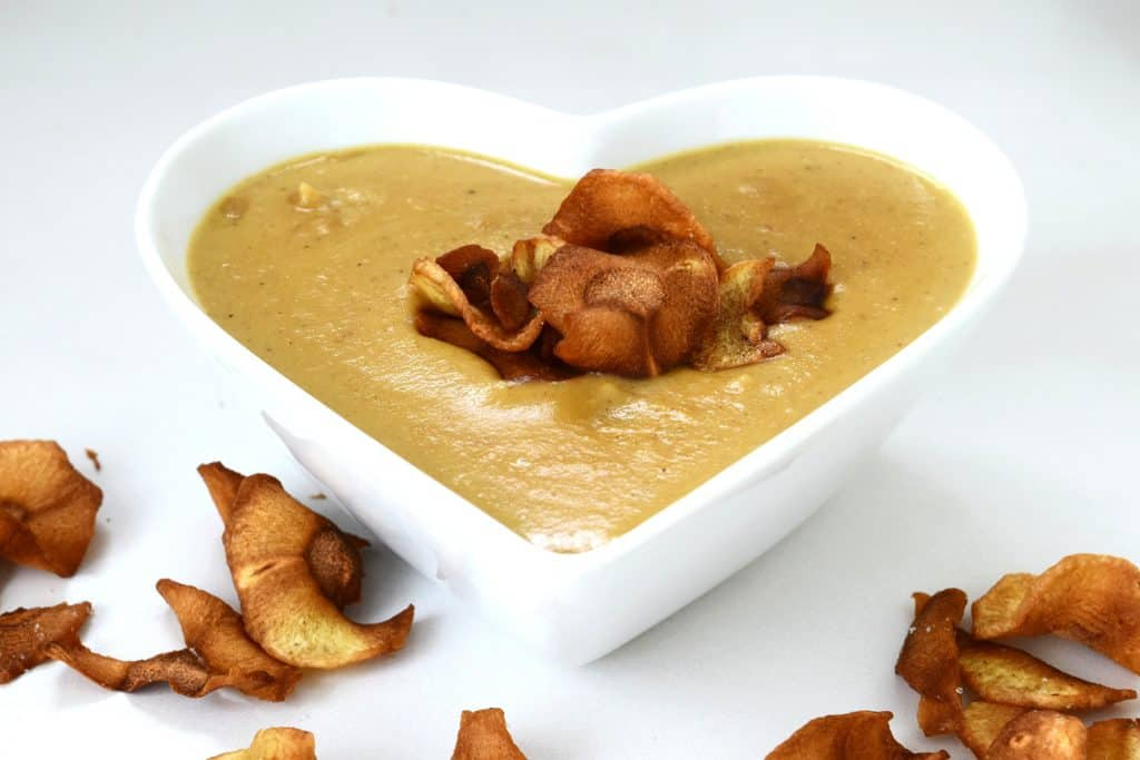 curried honey roast parsnip soup