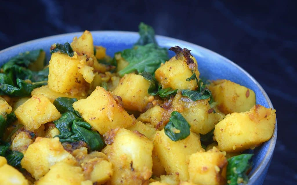 Sag Aloo Indian Potato Recipe