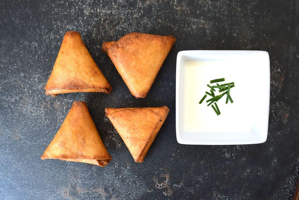 Falafel Samosas Recipe - How to Fold Samosas