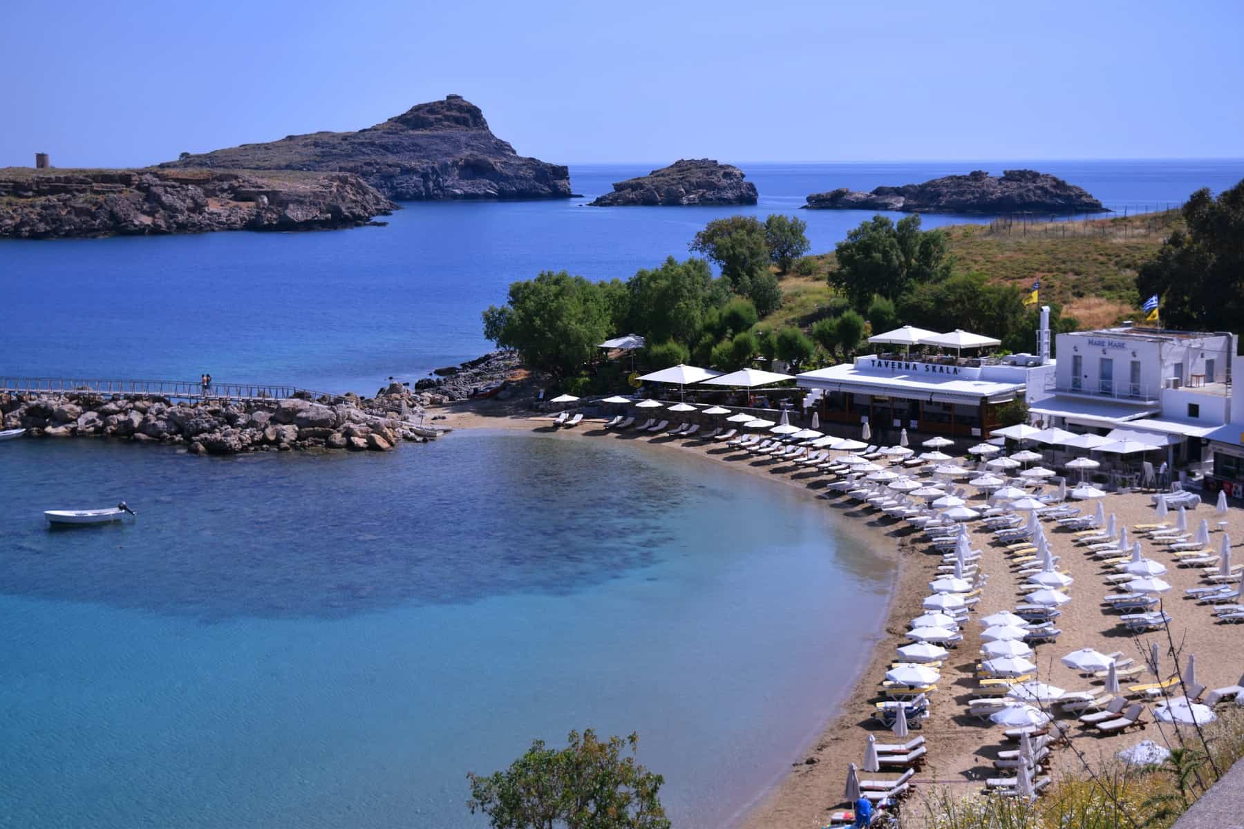 Picture of a beach bay in Rhodes