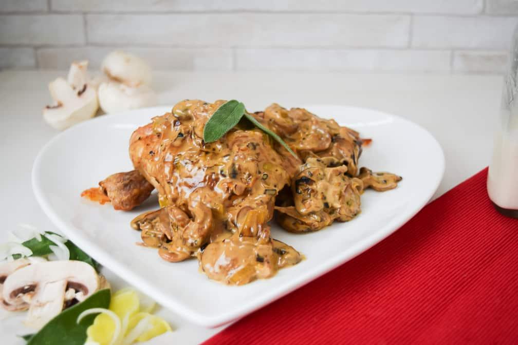 butter sage chicken creamy mushroom sauce recipe
