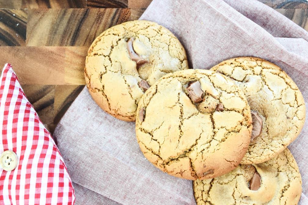 Milk Chocolate Chunk Cookies overhead