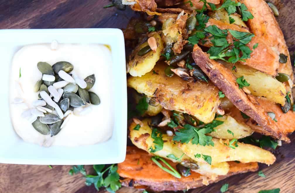 rustic potato wedges recipe