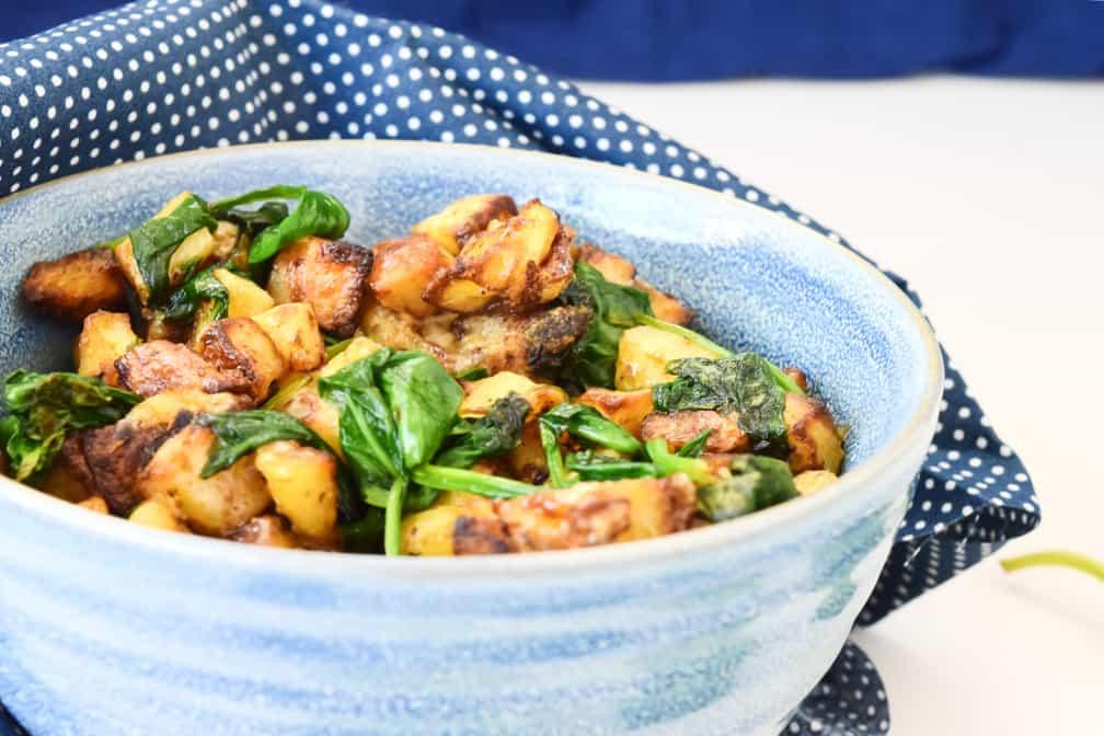fried pesto potatoes recipe