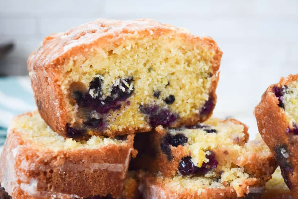 cross section of drizzle cake