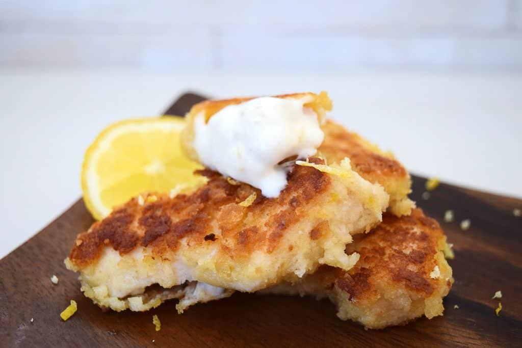 Crispy Lemon Chicken Bites With A Lemon Mayo Dip
