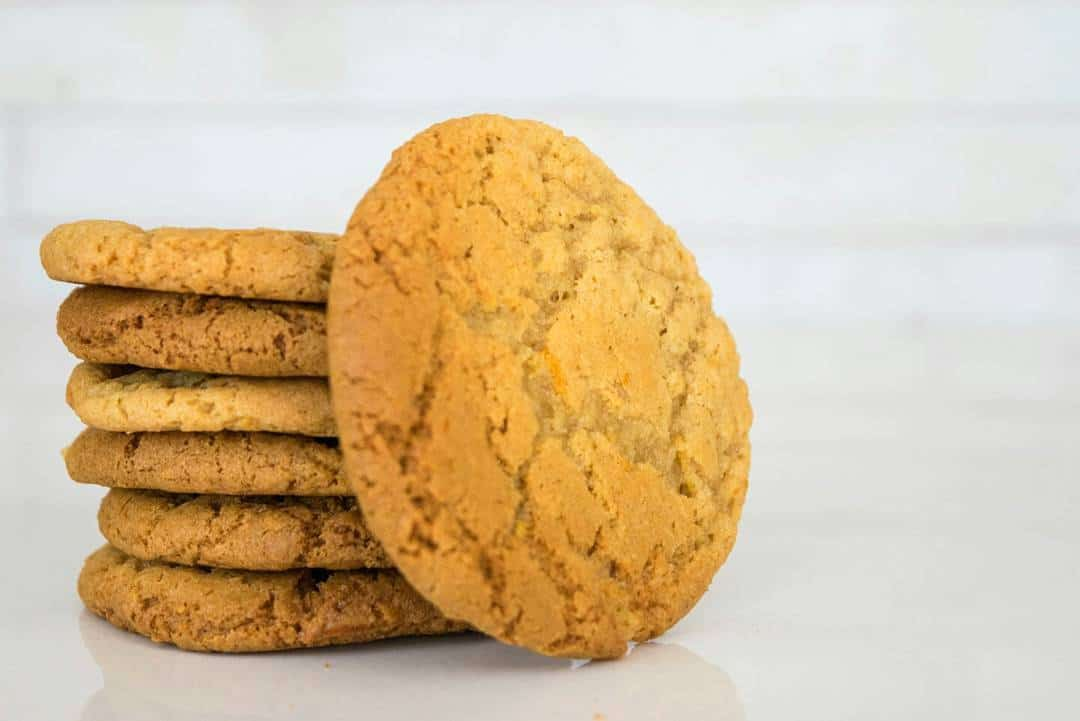 stacked ginger biscuits